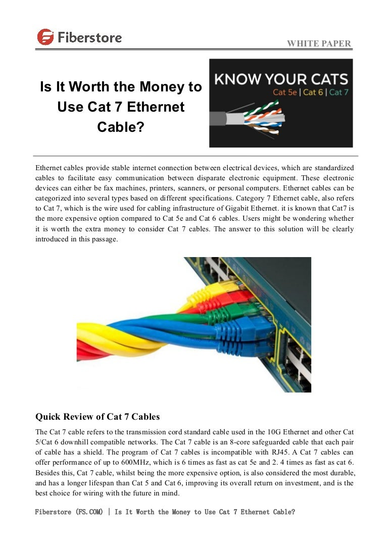 Is It Worth The Money To Use Cat 7 Ethernet Cable Ether On 5e Wiring Diagram Shielded