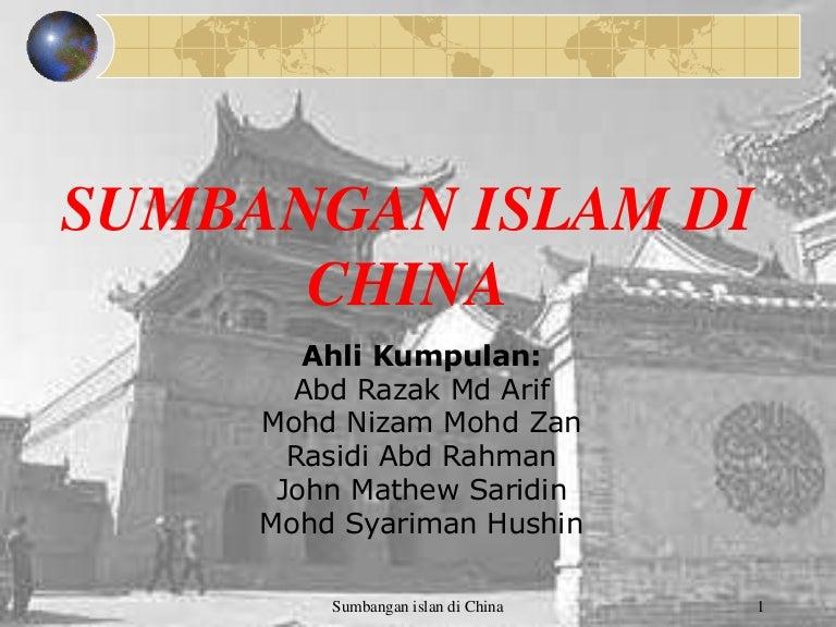 Sumbangan Islam Di China