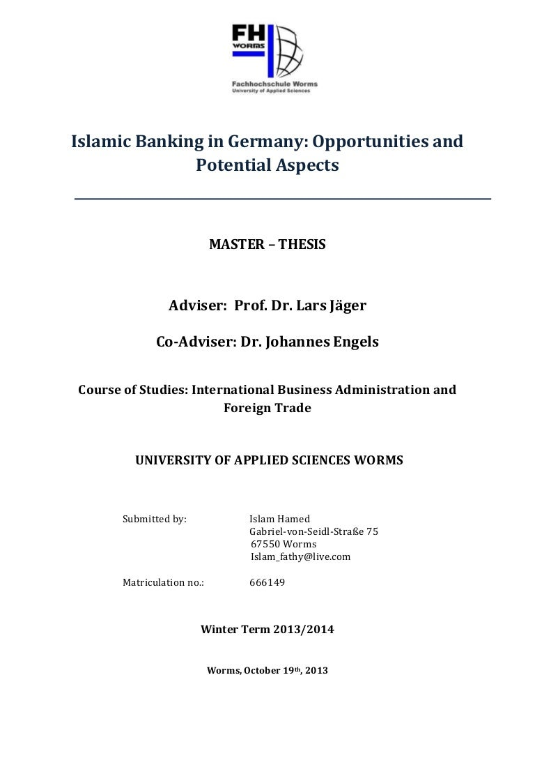 Phd thesis germany