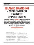 Islamic Branding- Misnomer or Earnest Opportunity?