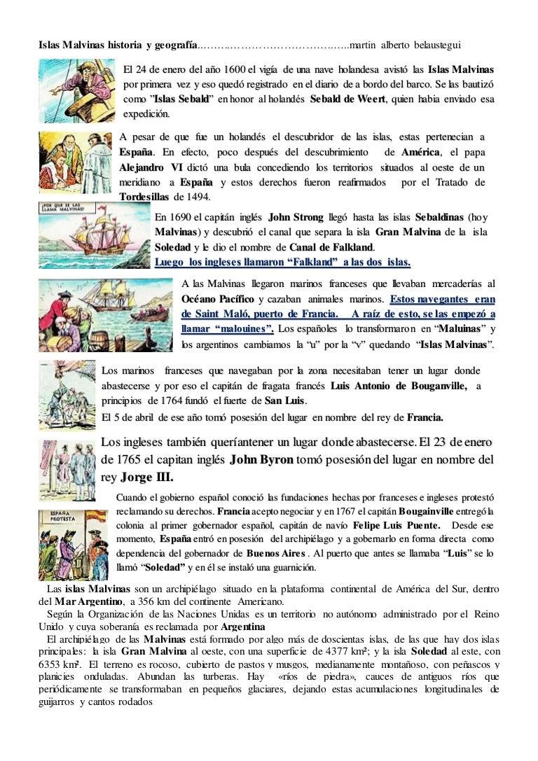 Islas Malvinas Historia Y Geografia
