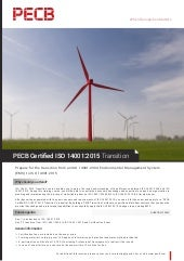 PECB Certified ISO 14001:2015 Transition - One Page Brochure