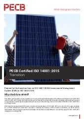 PECB Certified ISO 14001:2015 Transition - Four Page Brochure