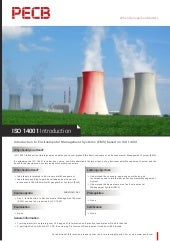 ISO 14001 Introduction - One Page Brochure