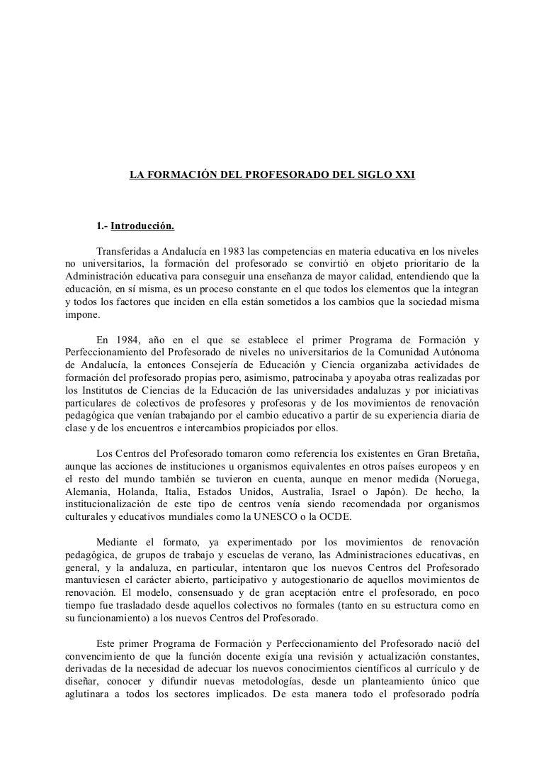 informe grupo trabajo formación profesorado parlamento andalucia juni…