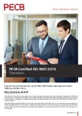 PECB Certified ISO 9001:2015 Transition | Four pages