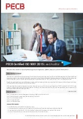 PECB Certified ISO 9001:2015 Lead Auditor   One page