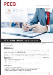 PECB Certified ISO 9001 Lead Implementer   One page