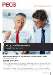 PECB Certified ISO 9001 Lead Implementer   Four Pages