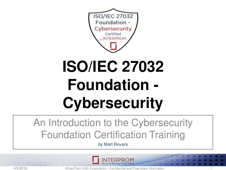 Iso Iec 27032 Foundation Cybersecurity Training Course