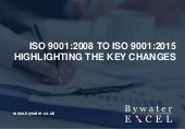 ISO 9001 2015 highlight of changes