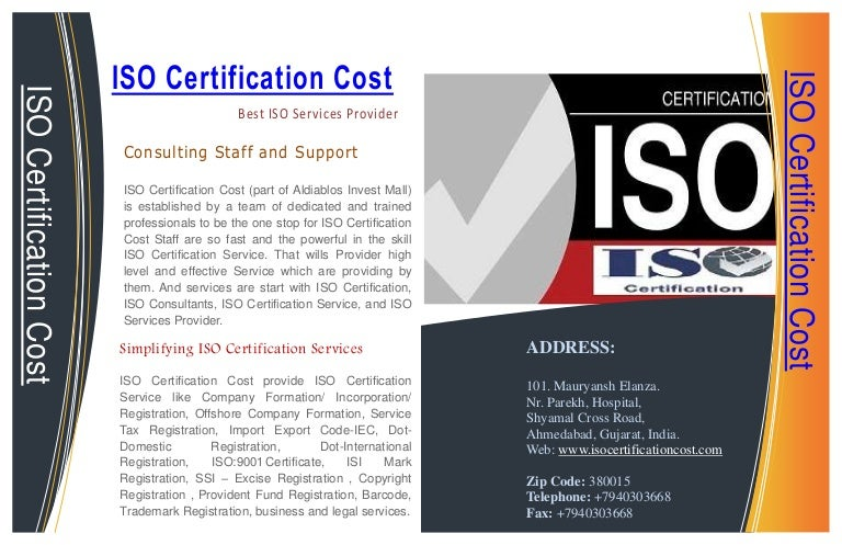 Iso Certification Cost Provide Guaranteed Iso Certification Service