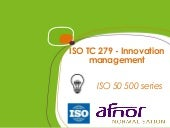 ISO guidelines on Innovation management ISO 50500 series