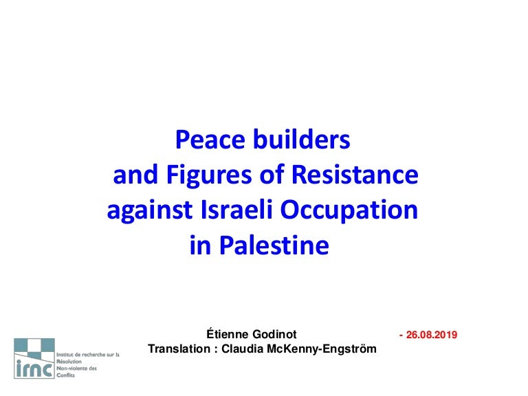 and South Africa Israel//Palestine Mobilizing for Peace Conflict Resolution in Northern Ireland