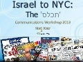 Israel to NYC