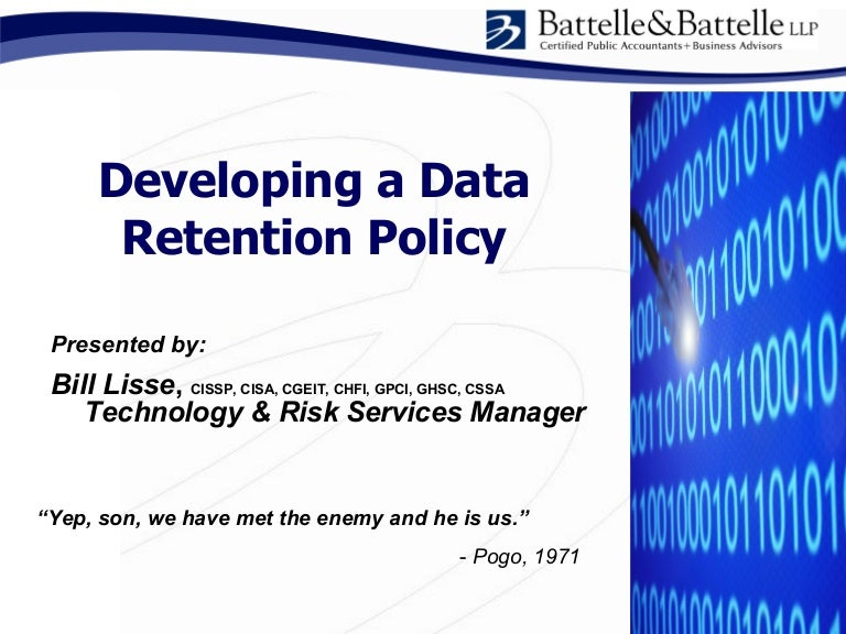 Issa Data Retention Policy Development