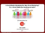 Is social media the new direct marketing  - 3 march 2011 -- slideshare