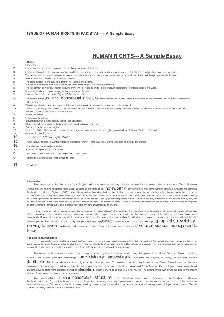 issue of human rights in