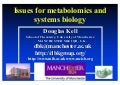 Issues for metabolomics and