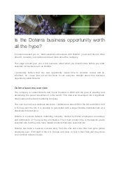 Is the Doterra business opportunity worth all the hype