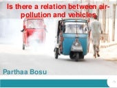 Is there a relation between air pollution and vehicles