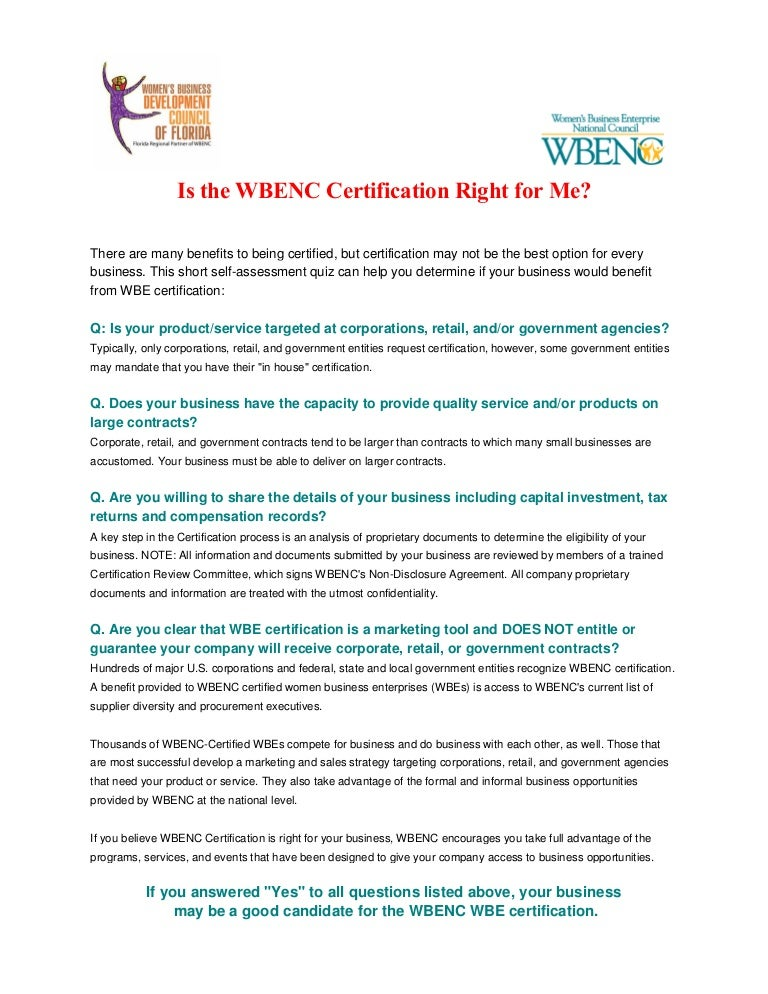 Is The Wbenc Certification Right For Me