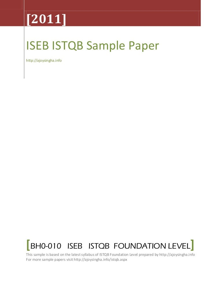 ISTQB Mock Test  Question Papers and Answers  Software Testing     ISTQB Sample Papers APK Video Tutorial
