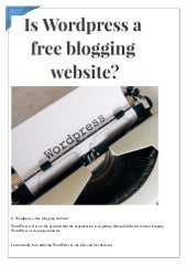 Is wordpress a free blogging website