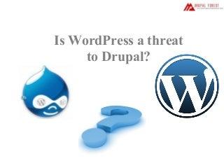 Is wordpress a threat to drupal