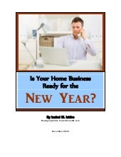 Is Your Home Business Ready for New Year