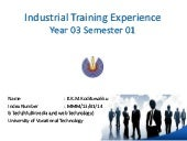 Industry training Experience in UNIVOTEC