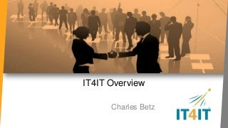 IT4IT Overview (A new standard for IT management)