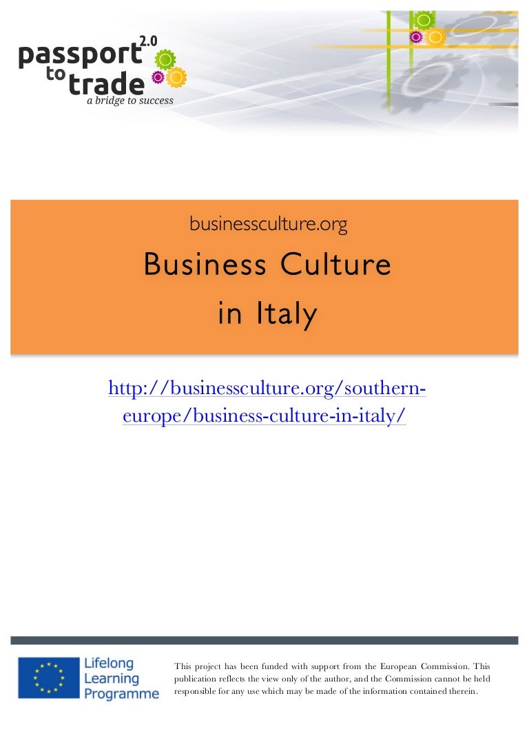 Italian Business Culture Guide Learn About Italy