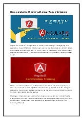 It career with proper angular js training