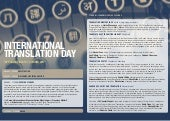 International Translation Day (ITD) 2017 at the British Library