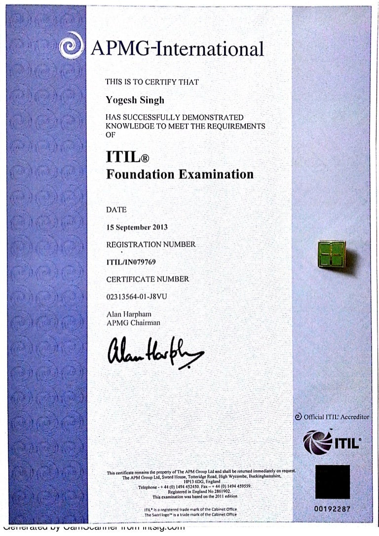 Itil 2011 foundation certificate in service management xflitez Images