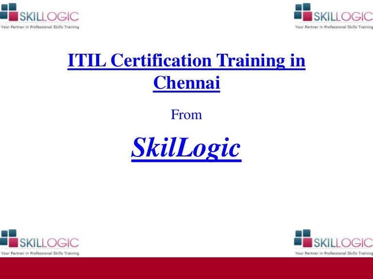 Itil Certification Training In Chennai