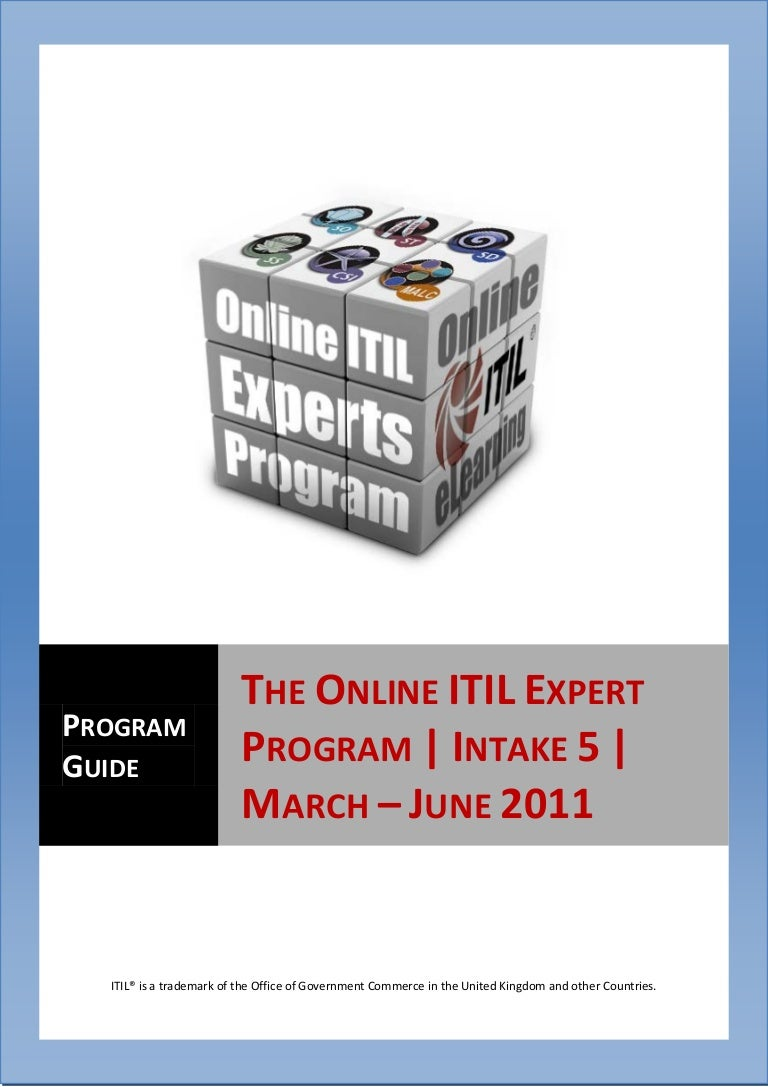 The online itil expert training guide xflitez Images