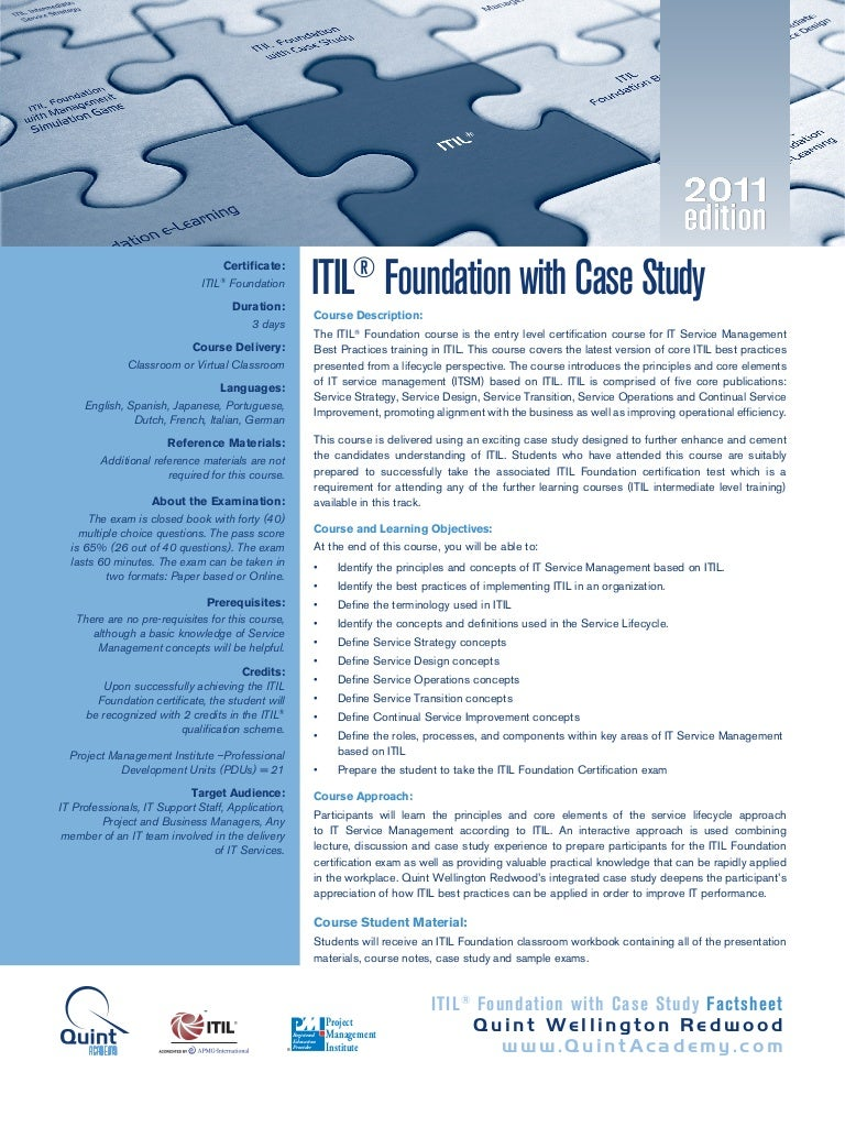 Itil foundation with case study 2011 edition xflitez Image collections