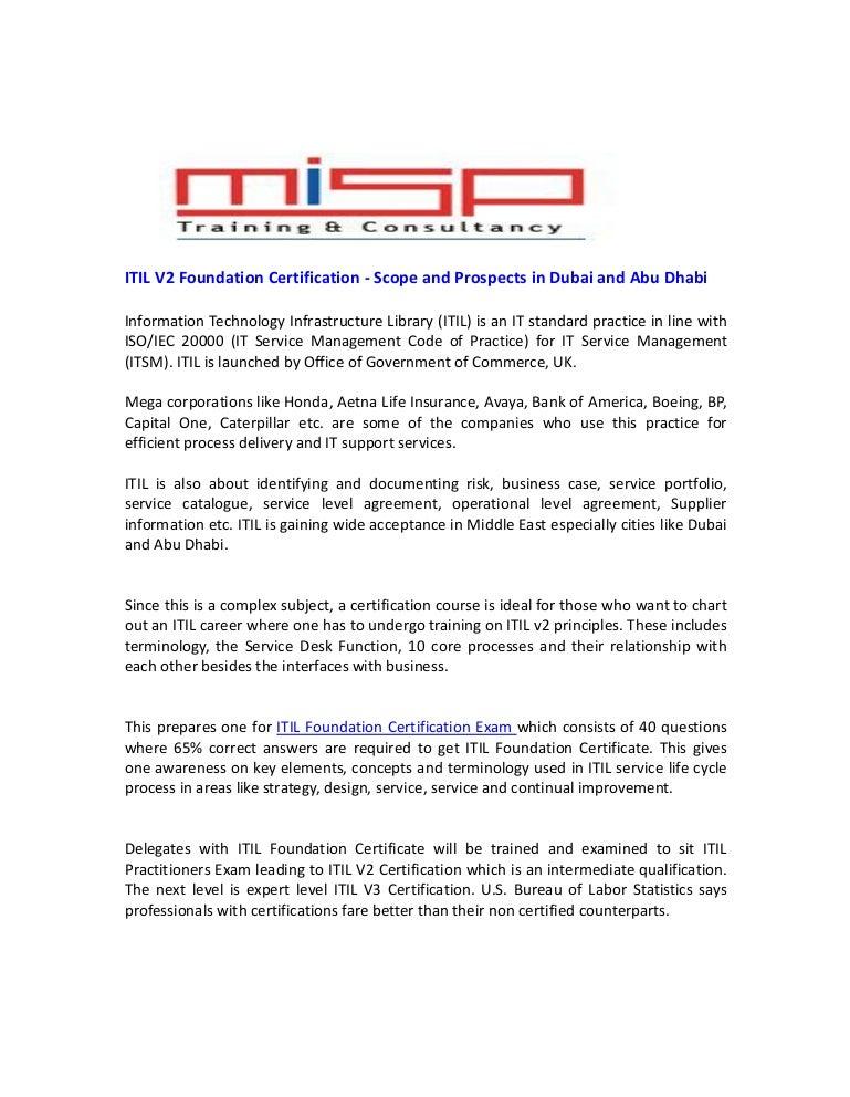 Itil V2 Foundation Certification