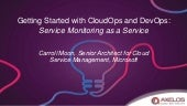 Getting Started with CloudOps and DevOps: Service Monitoring as a Service