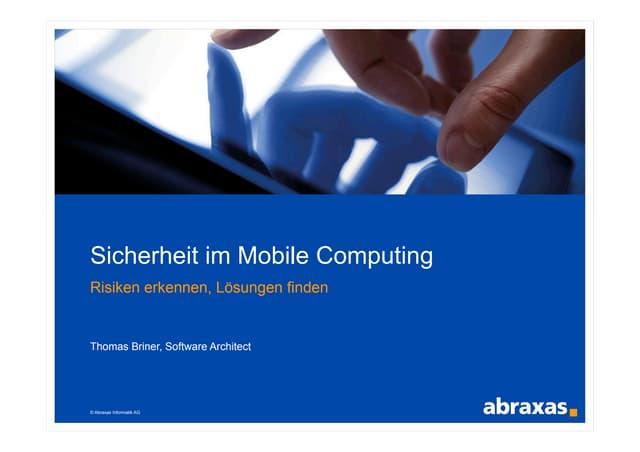 Sicherheit im Mobile Computing