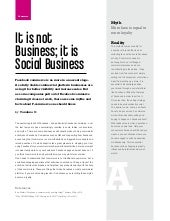 It is not business; it is social business