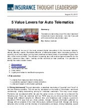ITL insurtech 5 value levers for auto telematics