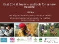 East Coast fever—Outlook for a new vaccine
