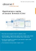 ObserveIt -Record and replay SSH, RDP & Citrix sessions-product datasheet- Italian