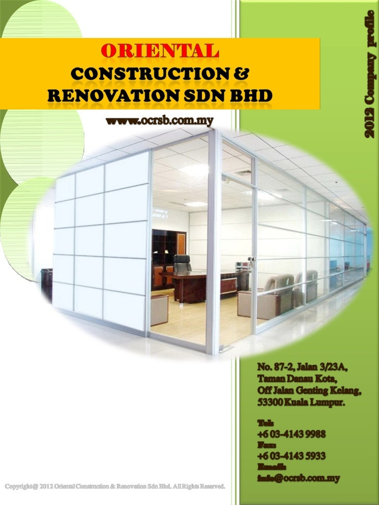 It Or 2 04 A Company Profile Oriental Construction Renovation Sdn
