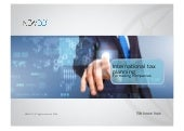 International Tax Planning for Trading Companies