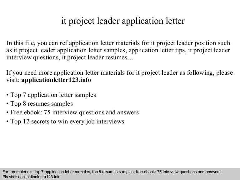 itprojectleaderapplicationletter 140922031357 phpapp01 thumbnail 4jpgcb1411355667