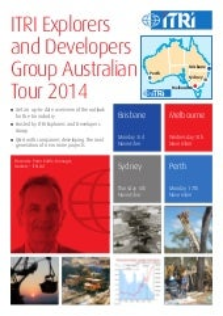 ITRI Explorers and Developers Group Australian Tour - 3-17 November